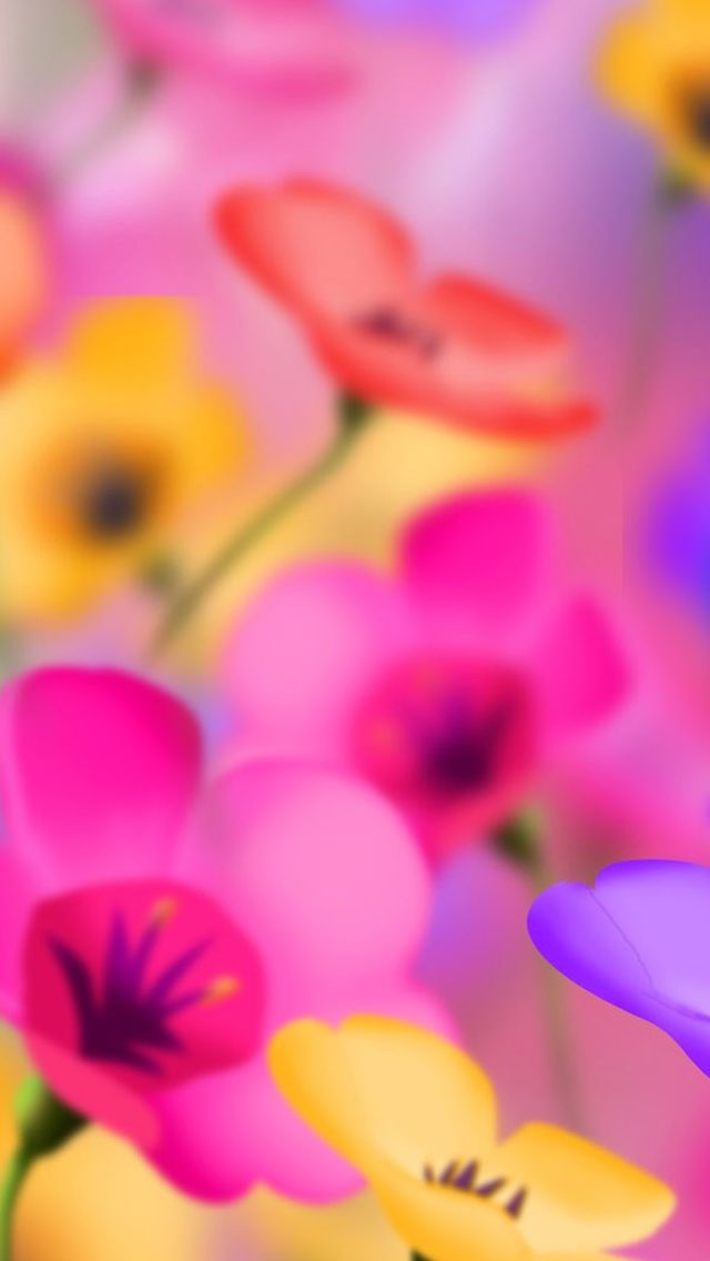 Digital Colorful Flowers IPhone 5s Wallpaper Download