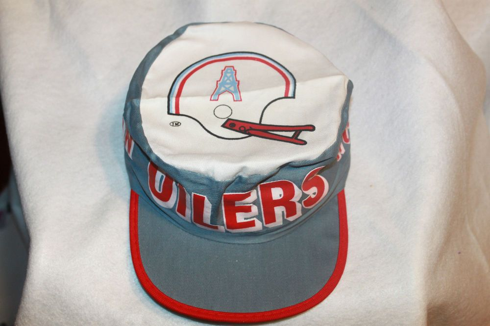 Houston Oilers Hat NFL Painters Cap Vintage Rare New Old Stock From the 80s  please retweet 40cf1381f388