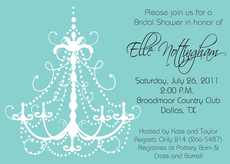 Tiffany Blue Chandelier Bridal Shower Bachelorette Party Girls – Tiffany Blue Birthday Invitations