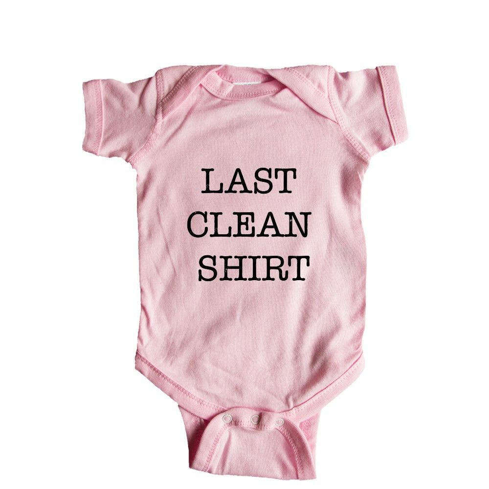 Last Clean Shirt Lazy Laundry Dirty Clothes Laziness Sloth Lethargic Sleep Sleeping Tired Sleepy Bed SGAL9 Baby Onesie / Tee