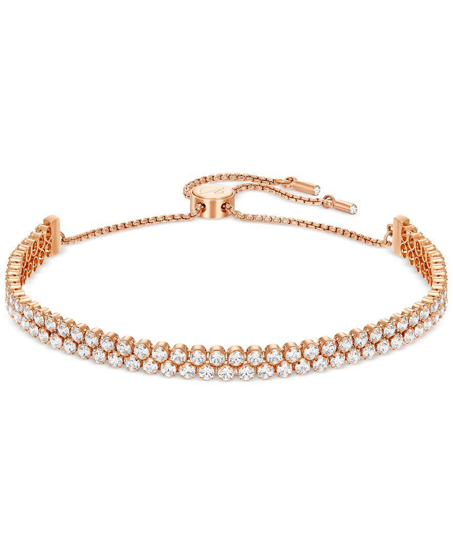 Swarovski pave crystal slider bracelet products pinterest