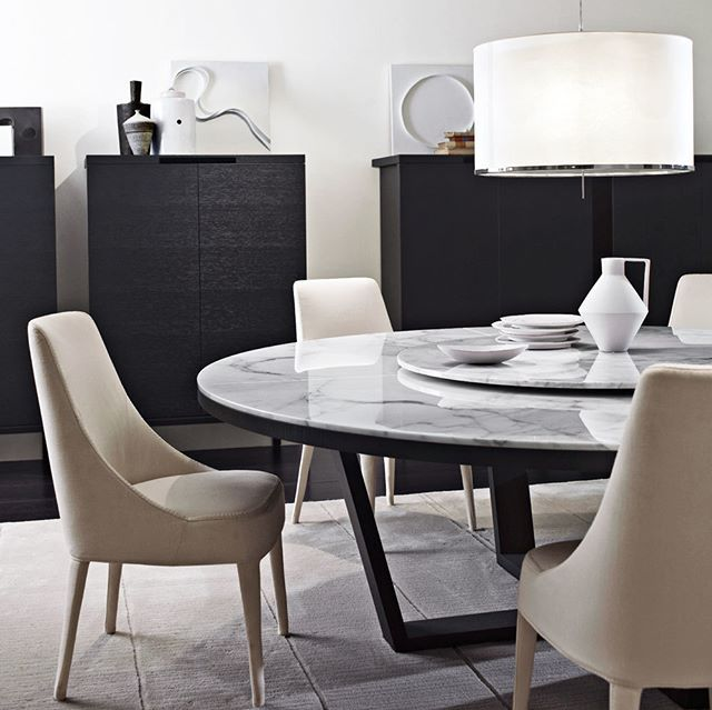 Round Dining Tables Ideas And Styles For Sophisticated: B&B Italia Sit Down One Evening To Dinner... Sophisticated