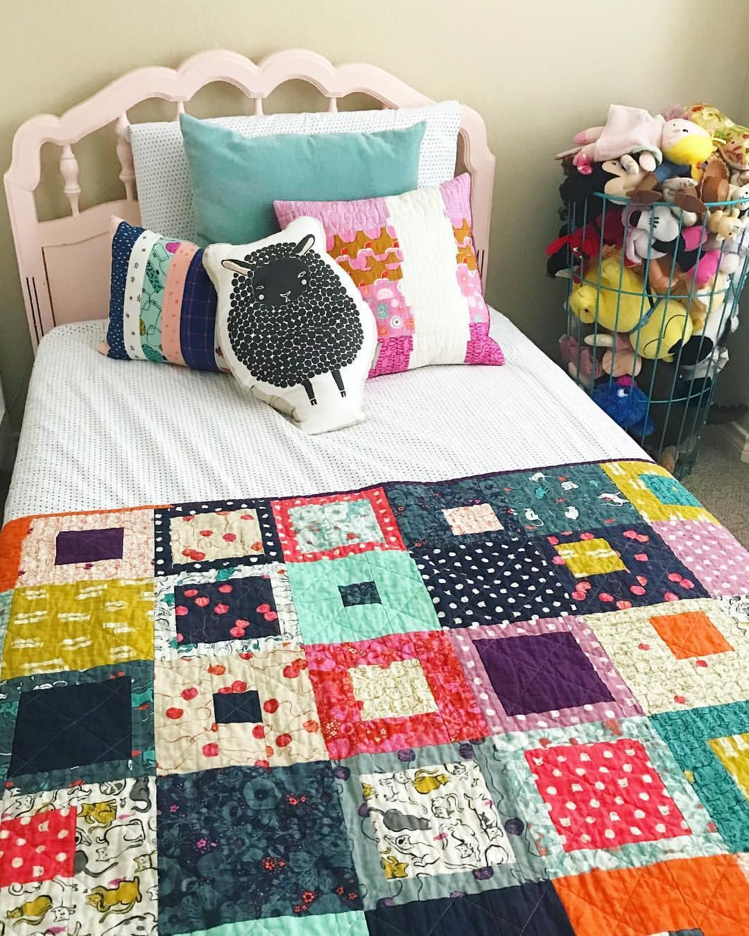 Kids Room, Kid Quilt, Throw Quilt, Land Of Nod, Painted