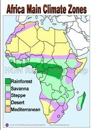 Image result for climate map of africa | Habitats/Geography