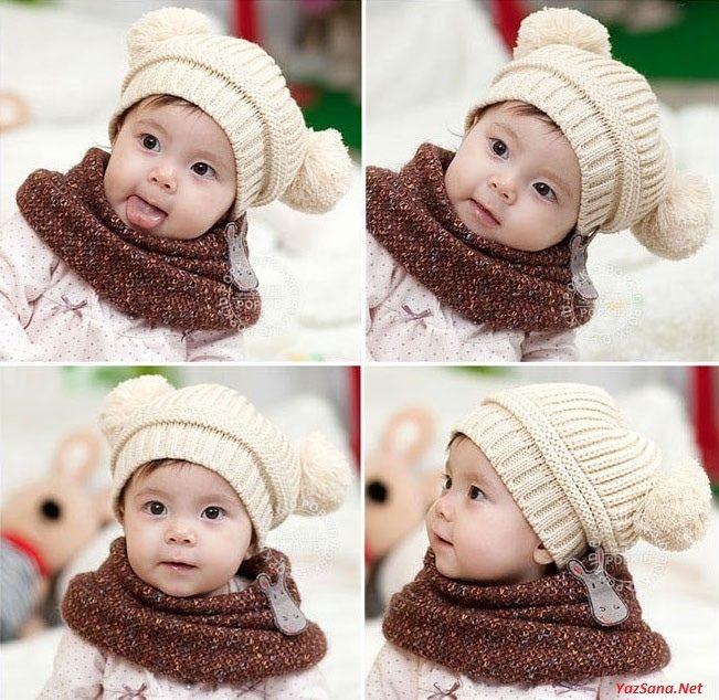 Bebek Şapka Kaşkol Modelleri 2016