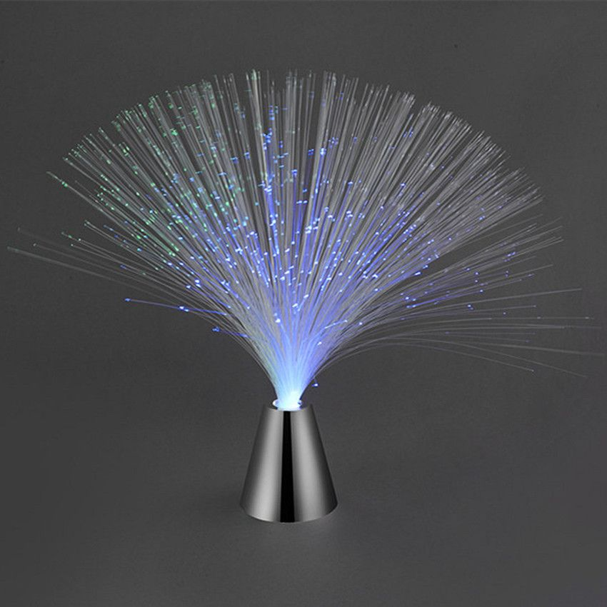 Led Changing Night Fountain Multi Colour Lamp Fibre Optic Light Home xeCdBroW