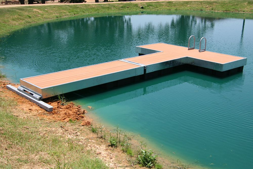 Homemade floating dock google search boathouses and for Pond pier plans