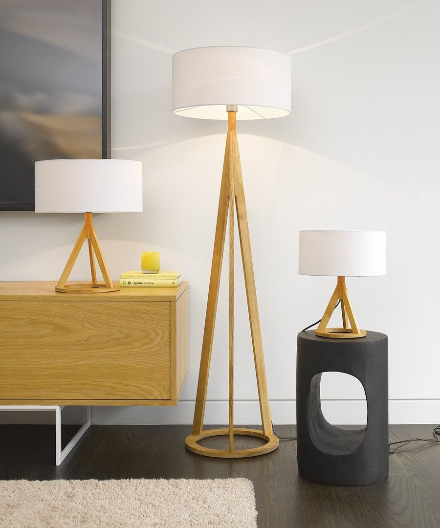 Jacob Oak Floor Lamp | Floor lamp, Beacon lighting, Small