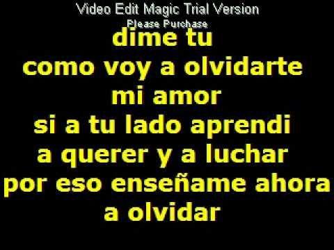 Si Supieras Cuanto Te Amo Jerry Rivera Letra Youtube Te Amo Voy A Olvidarte Sabías Que