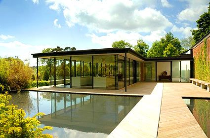 Modern House With Clear Glass Walls. Very Beautiful!