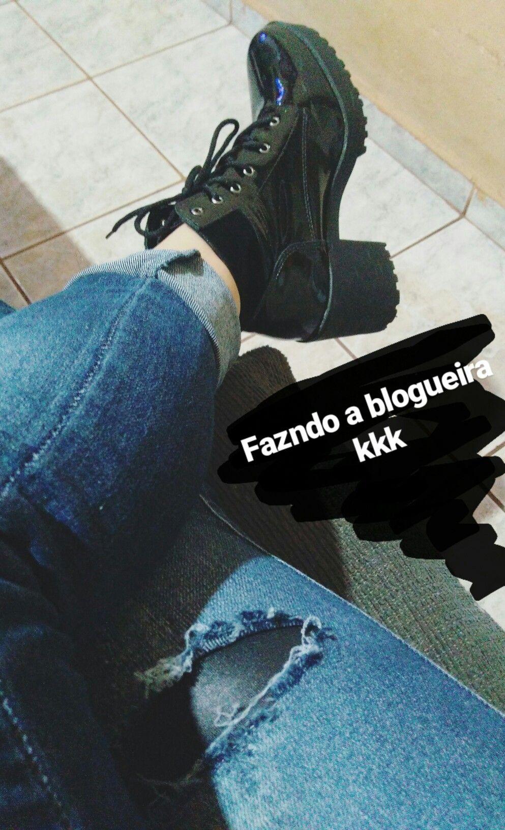 Aquela bota BAPHO ! #verniz #coturno #Jeans