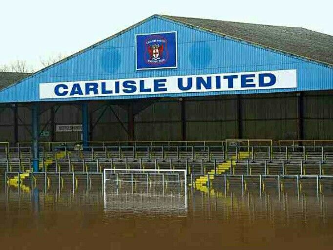 Carlisle Utd's Brunton Park was flooded out as bad storms lashed the UK in 2015.