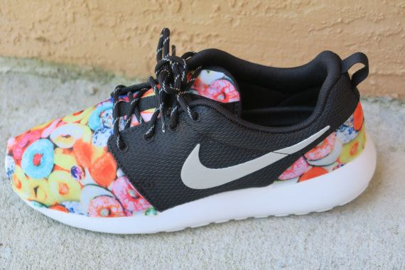 3d54d72f5292 Froot Loops Women Roshe by LeedasWorld on Etsy. Find this Pin and more on Custom  Nike ...