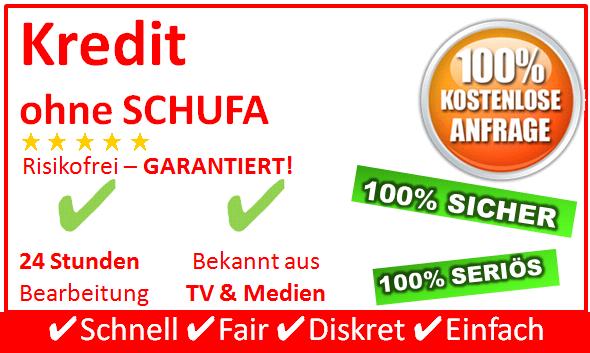Mit dem Kredit ohne Schufa von SchweizerKredit24.de haben Sie die ideale Lösung gewählt wenn es