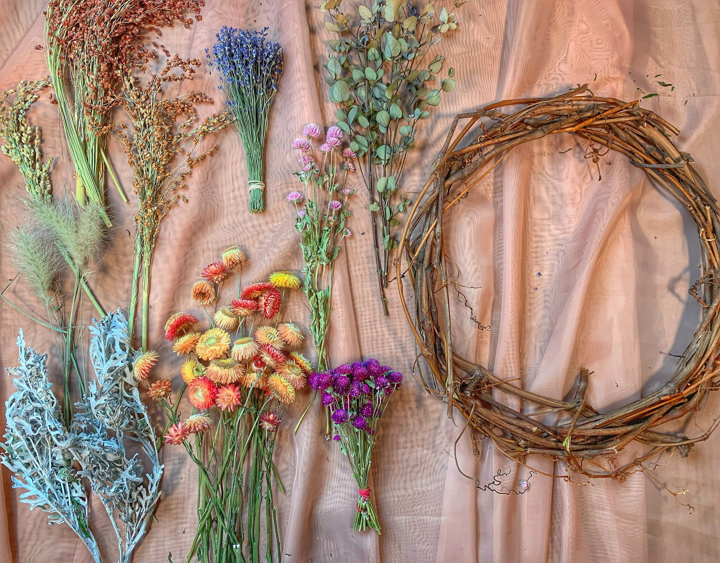 Diy dried flower wreath kit deluxe edition dried