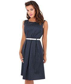 e291cfe3717e KRISP® Damen 50er Jahre Vintage Kleid Swing Midi Knielang   Kleider ...