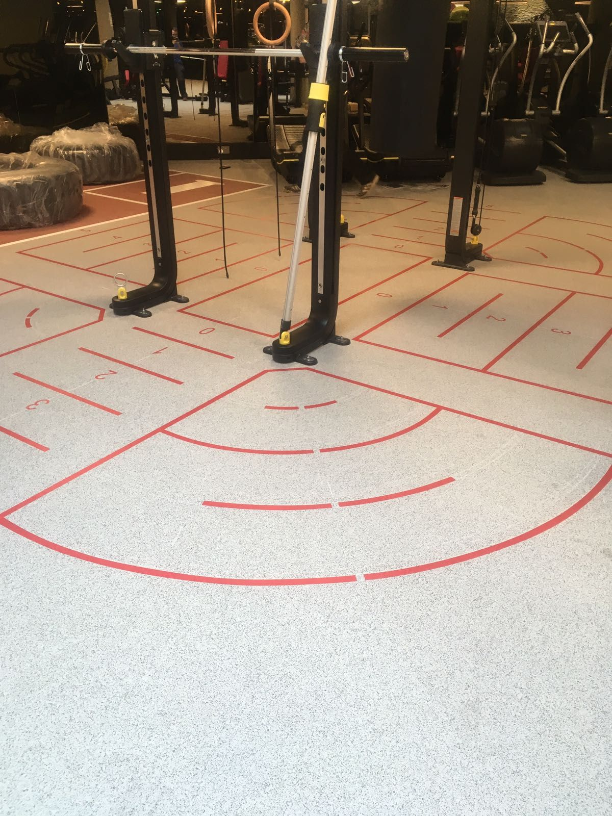 DalZone sports floor from Dalhaus with markings. Tough