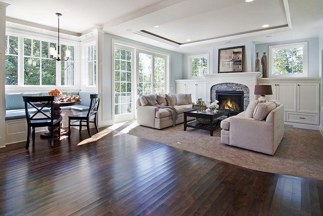 Breakfast Nook Living Room Hearth Room Family Room Design Family Room