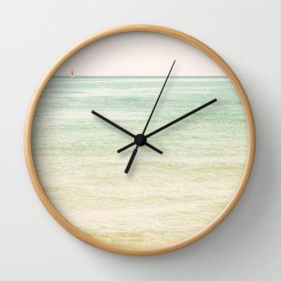 Nautical Red Sailboat Wall Clock $30