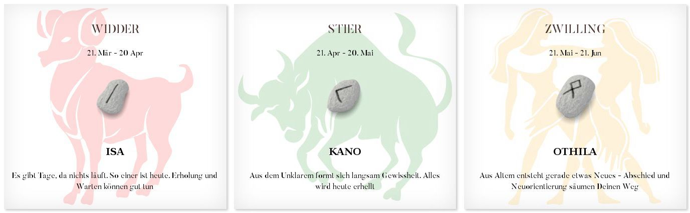 Runen Tageshoroskop 20.4.2016 #Sternzeichen #Horoskop #Tagesrune #Runen