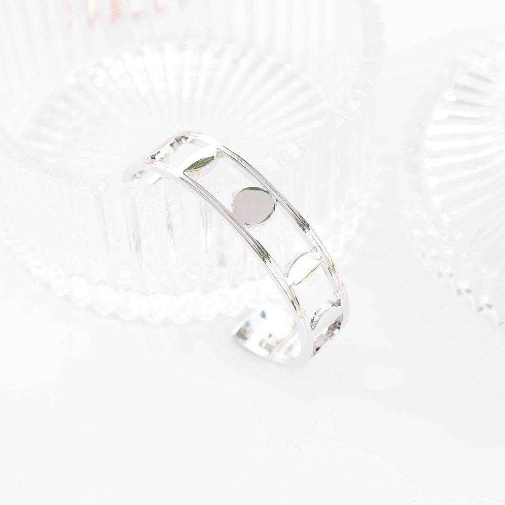 Eclipse Silver Bangle Bracelet