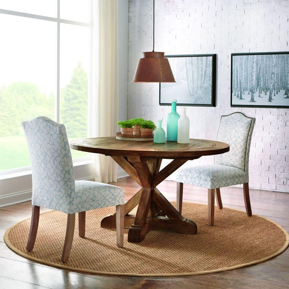 Home Decorators Collection Cane 54 Inl Round Wood Dining Table Enchanting Cane Dining Room Chairs Design Decoration