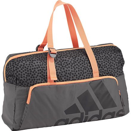 Adidas Next Generation Medium Gym Bag - Grey / Glow Orange ...