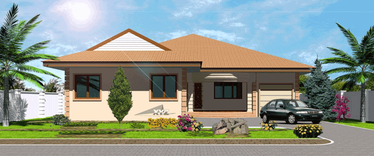 House Plans for Africa Okyeame House Plan Ghana House Plans