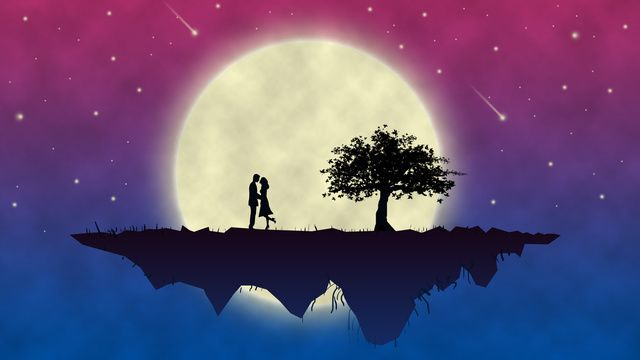 Moon Love Couple Night Sky, Meteor, 520, Purple Illustration Image on Pngtree, Free Download on Pngtree