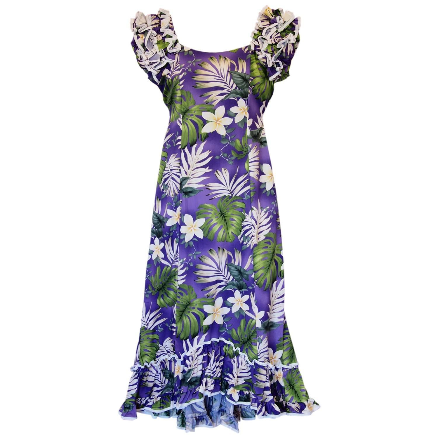 b2592844408 Amazon Purple Hawaiian Meaaloha Muumuu Dress with Sleeves