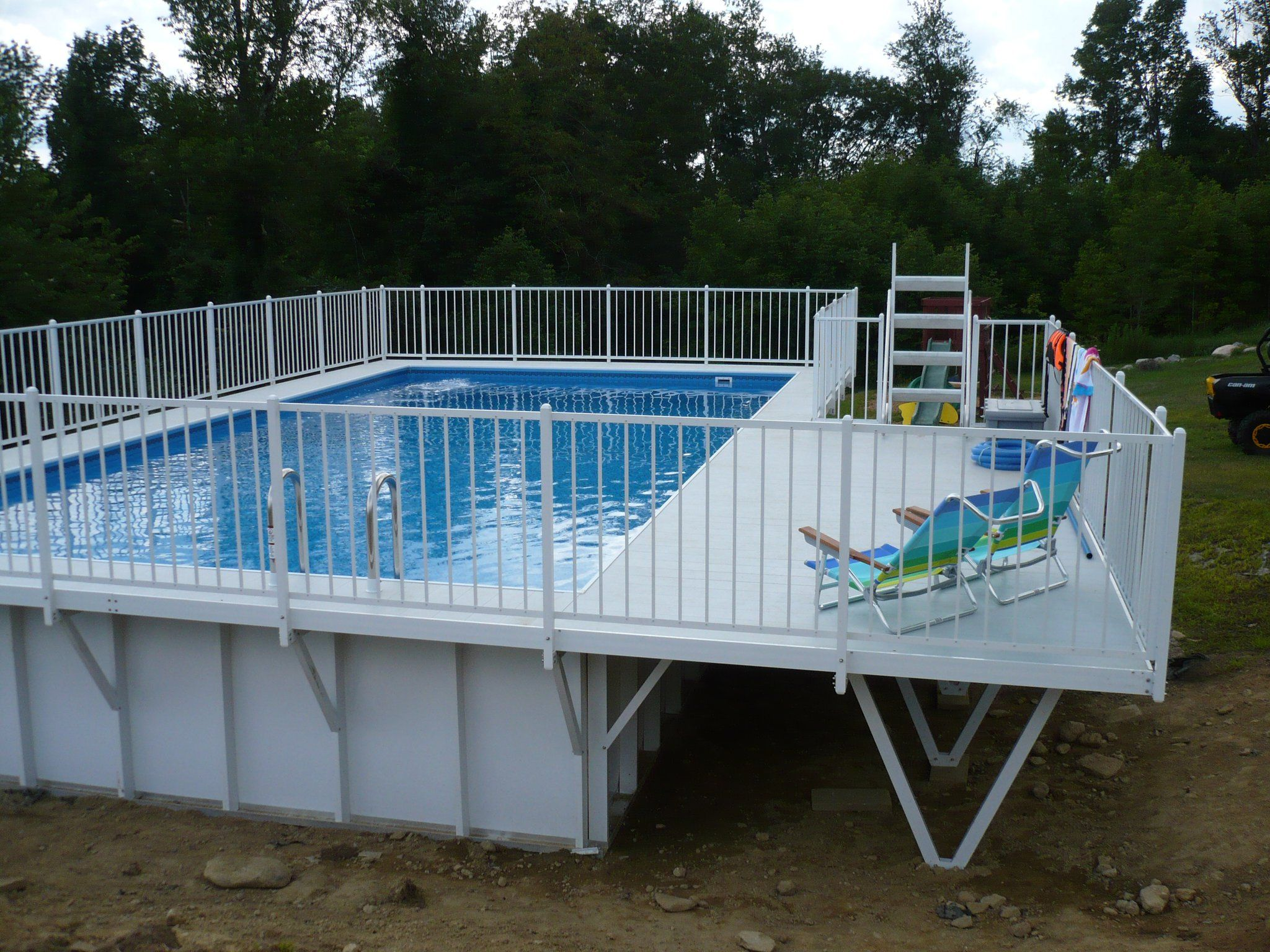 Kayak Pool With Deck Kayak Pools Swimming Pool Maintenance Pool Decks