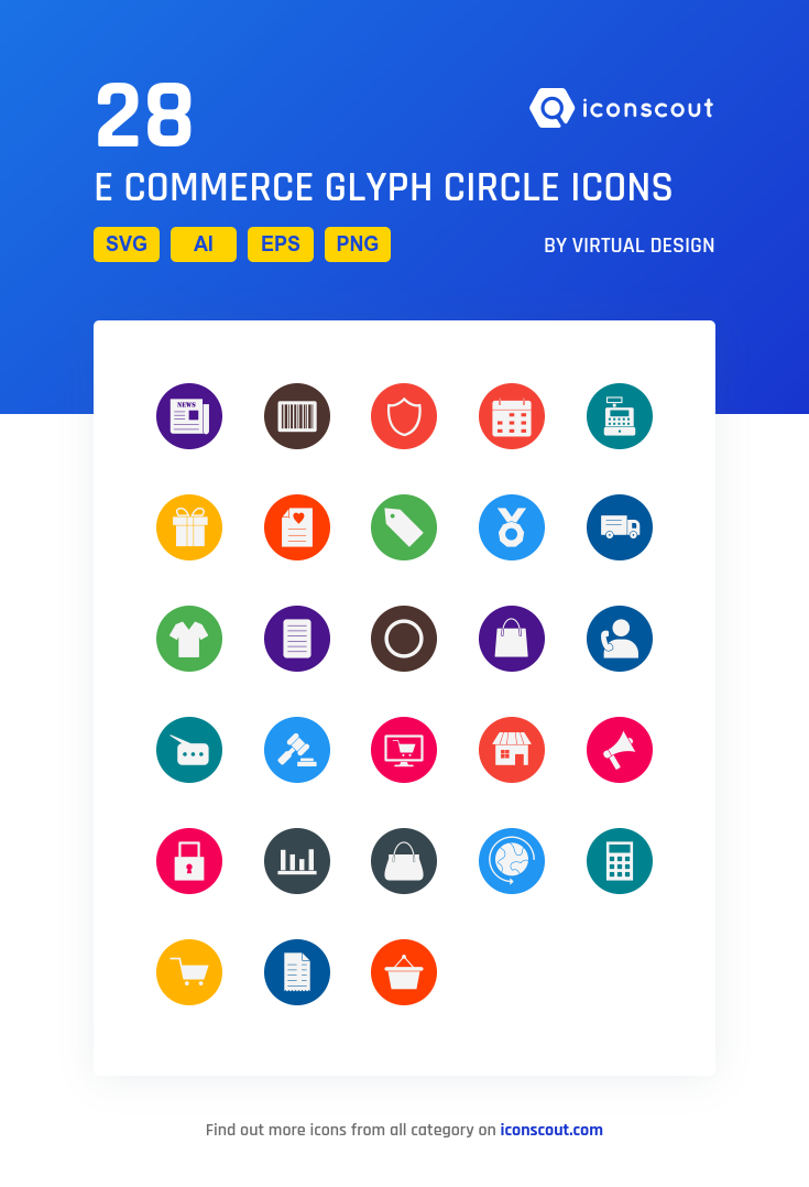 E commerce glyph circle icon pack 28 solid icons ecommerce e commerce glyph circle icon pack 28 solid icons altavistaventures Images