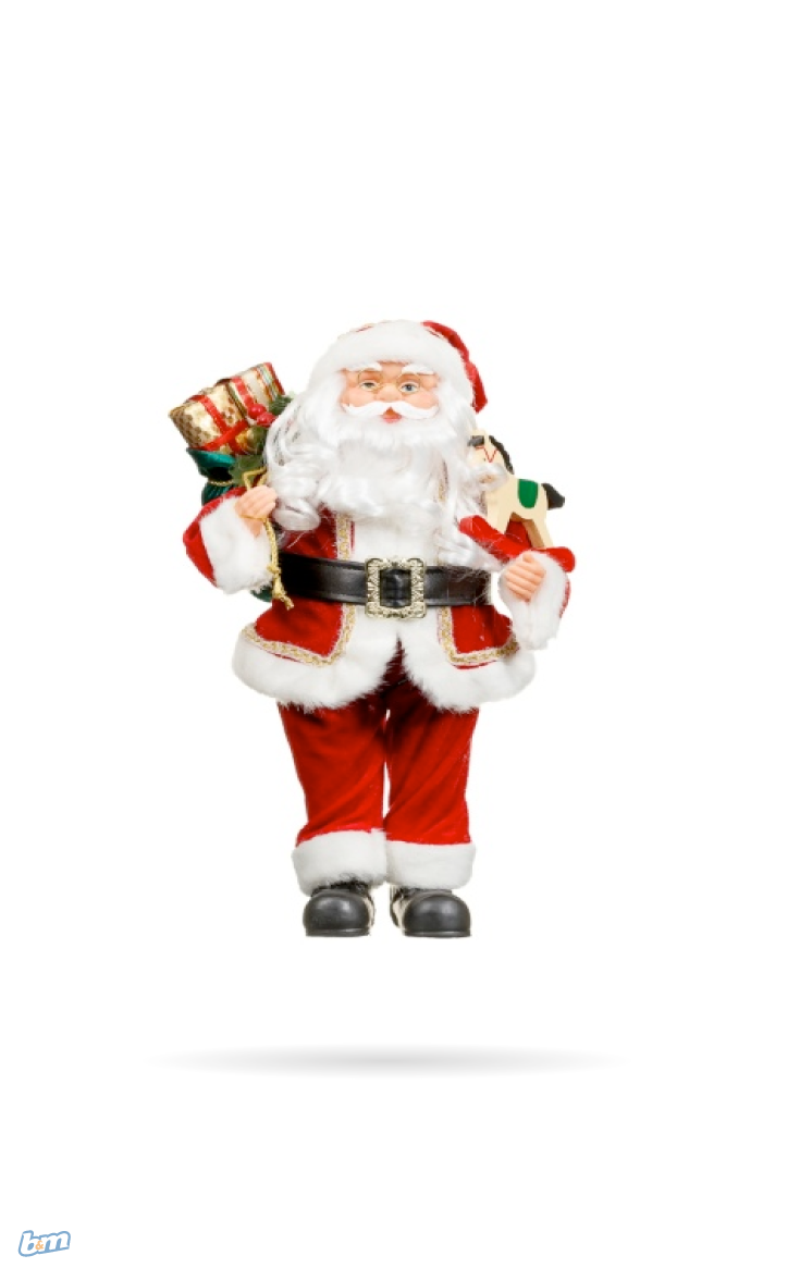 Standing Santa with Presents. Make your home as festive as