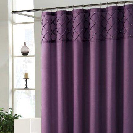 Amazon Com Roxanne Purple Shower Curtain Home Kitchen Shower Curtain Sets Bathroom Shower Curtain Sets Bathroom Shower Curtains