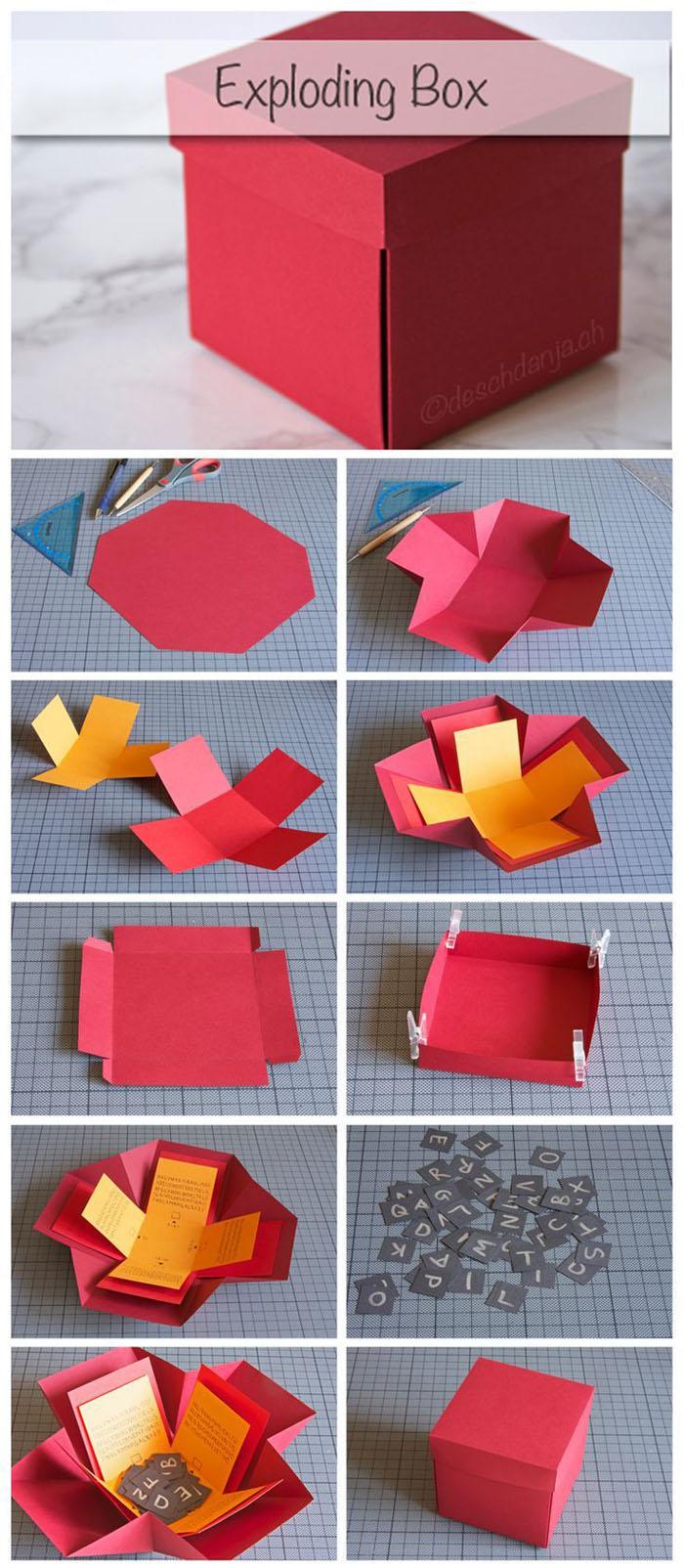 Geschenkbox basteln- Anleitung zur Anregung der Kreativität