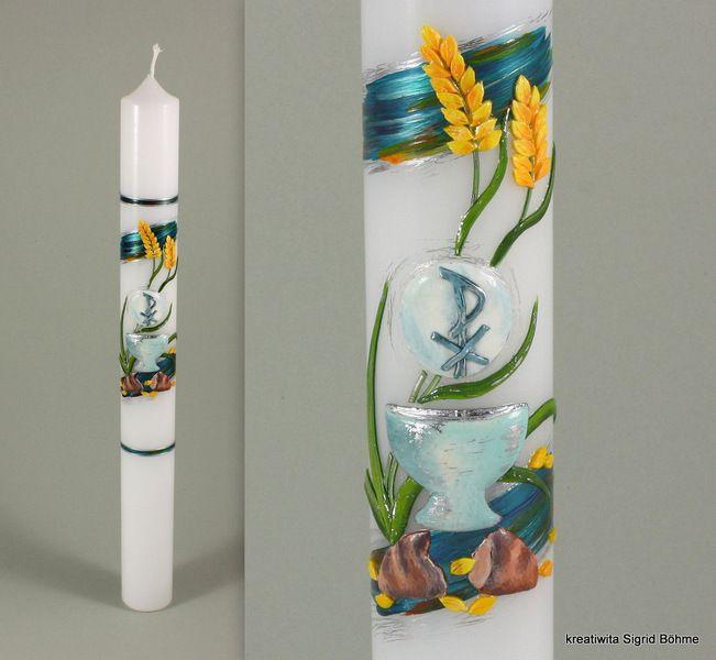 Kommunionkerze Von Kreatiwita Kerzen Kunst Auf Dawanda Com