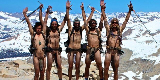 Nude hiking backpacking video clip alaska