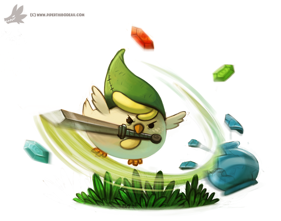 Daily Painting #930. Cucco Link by Cryptid-Creations on DeviantArt