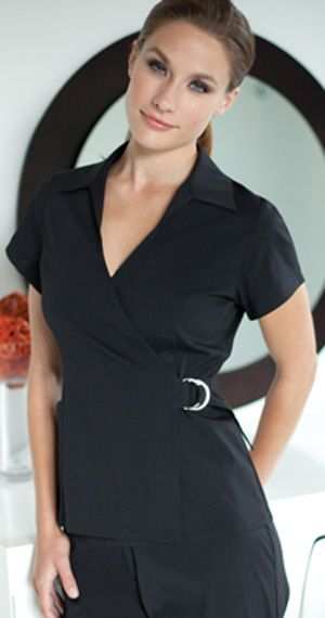 Monaco top love in a light color such as white or light for White spa uniform uk