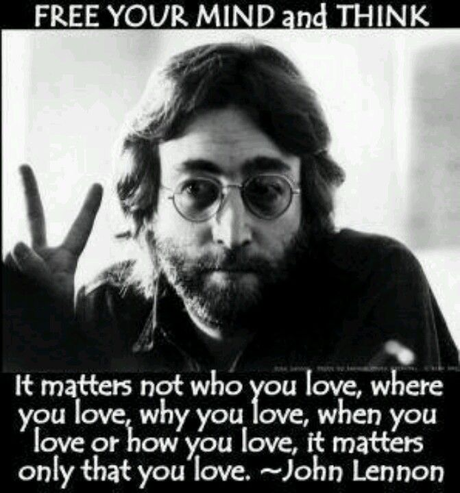 John Lennon had so much wisdom to share...