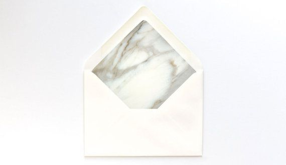 White Marble Envelope Liner Template  A Euro Flap By Ettucreate