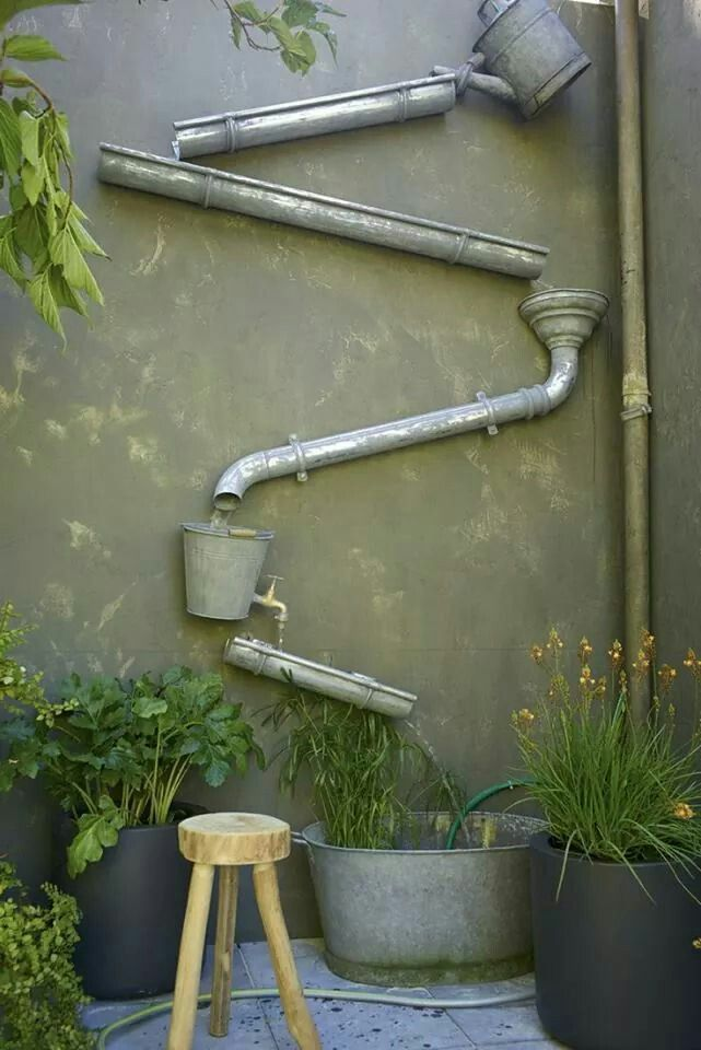 Tunnel Garden Rain Gutter Water Tunnel Garden Wall With Images