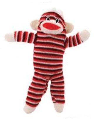Brogan S Heroes 10 Red Stripe Colorful Sock Monkey Dog Toy