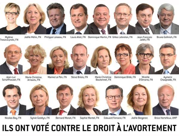 Ils ont voté contre le droit à l'avortement, contre le droit à la contraception cette semaine au Parlement européen