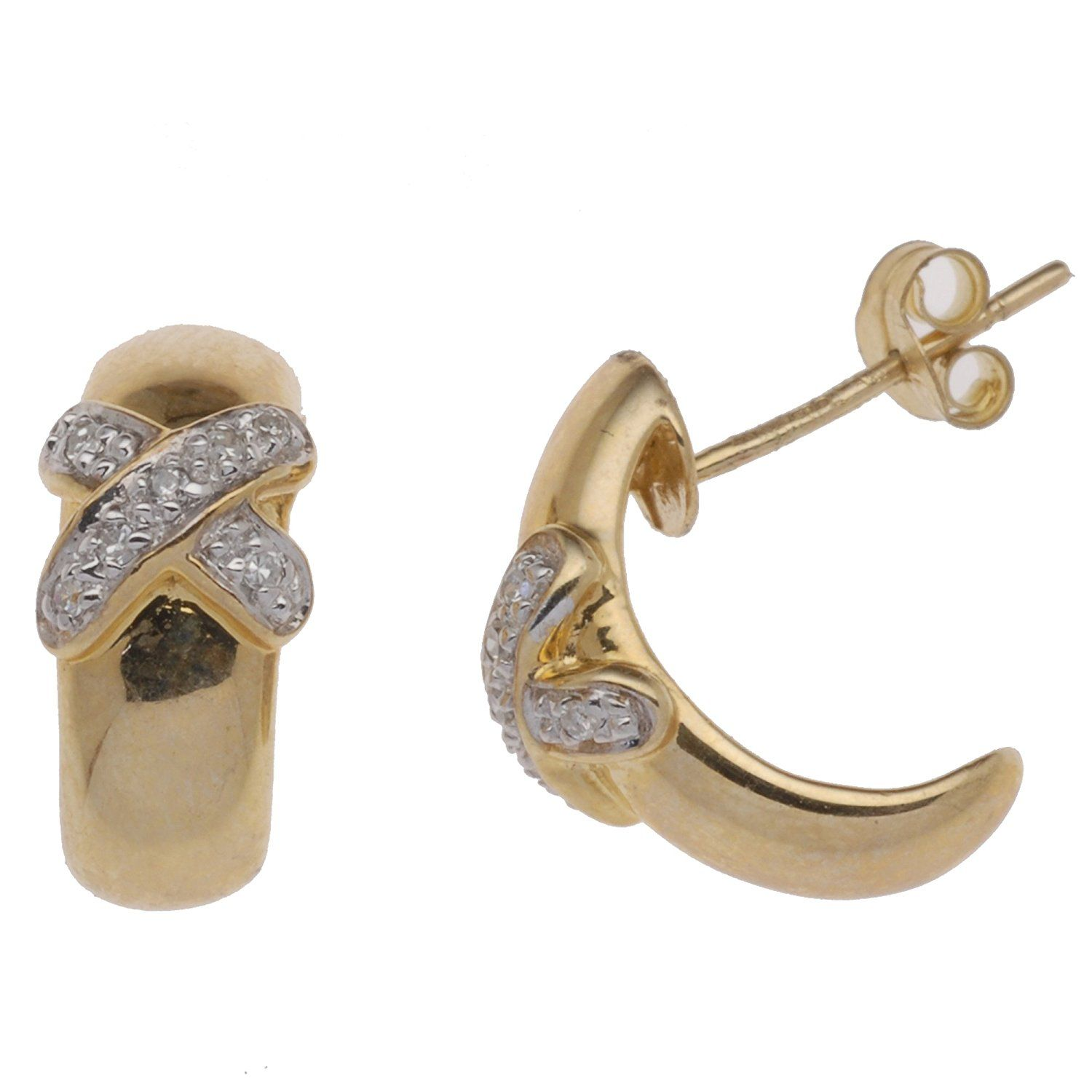 Adara 9 ct Yellow Gold 7 mm Ball Stud Earrings