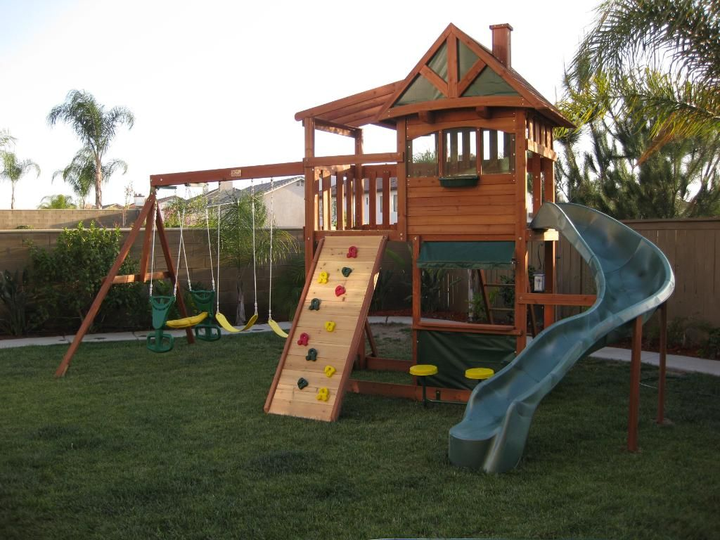 backyard swing traditional kids playset 5 backyard playground and swing deluxe watch towers big back yard swing sets infant swing