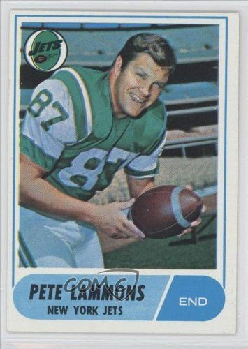 980b4635495 Pete Lammons RC (Rookie Card) New York Jets (Football Card) 1968 Topps #143  by Topps. $1.70. 1968 Topps #143 - Pete Lammons RC (Rookie Card)