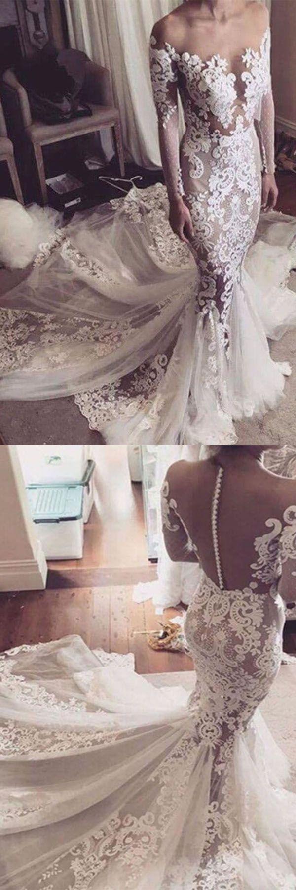 Customized fancy long prom dress wedding dresses illusion