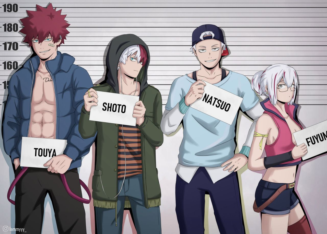 Todoroki Punks My Guess Is That Touya Dabi Is The Tallest And Is Around 185cm Tall My Hero Academia Episodes My Hero My Hero Academia Shouto