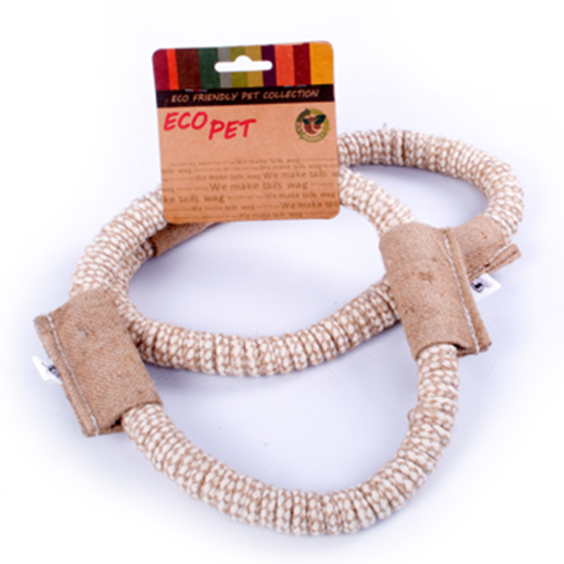 Eco Pet Jute and Cotton Ring Pet Toy